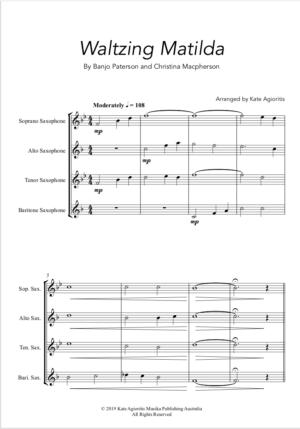 Waltzing Matilda – Saxophone Quartet