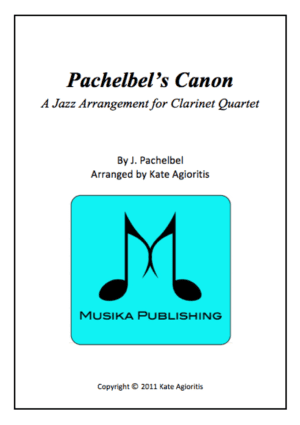 Pachelbel's Canon – in a Jazz Style – Clarinet Quartet