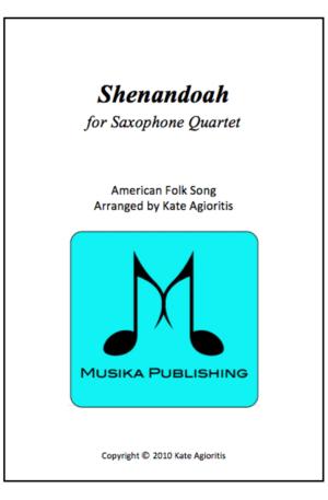 Shenandoah – Saxophone Quartet