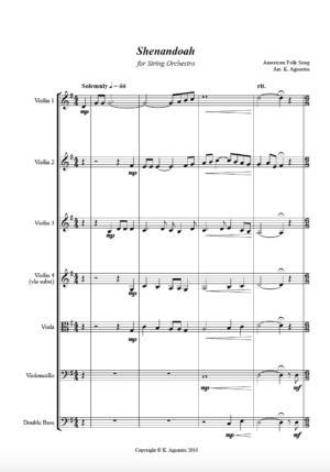 Shenandoah – String Orchestra