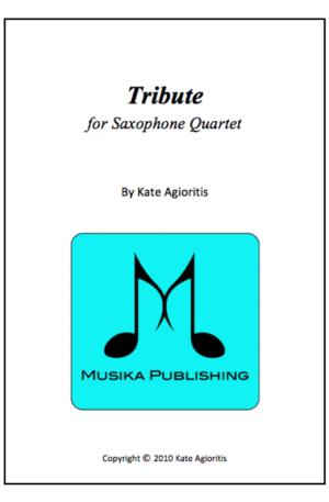 Tribute – Saxophone Quartet