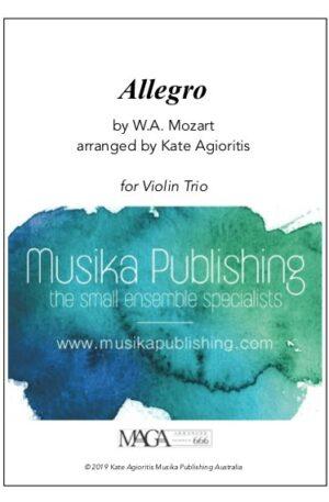 Allegro (Mozart) – for Violin Trio