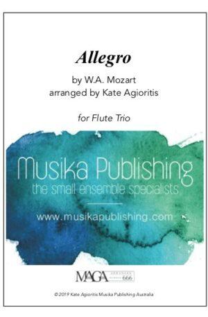 Allegro (Mozart) – for Flute Trio