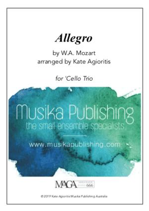 Allegro (Mozart) – for Cello Trio
