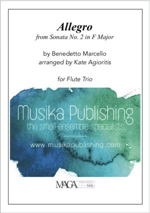 Allegro (Marcello) – for Flute Trio