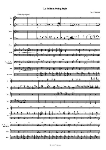 La Folia in Swing style first page