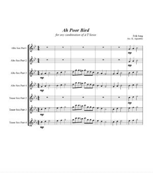 Ah Poor Bird – A/T Saxophone Quartet