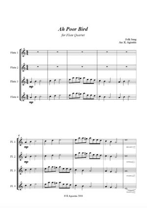 Ah Poor Bird – Flute Quartet