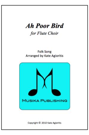 Ah Poor Bird – Flute Choir