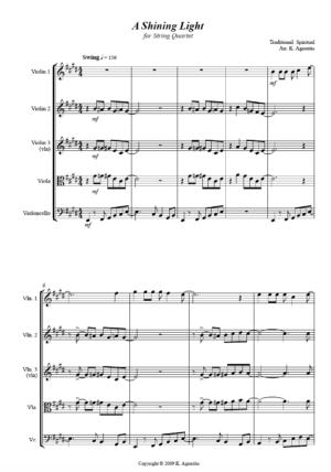 A Shining Light (This Little Light of Mine) – String Quartet