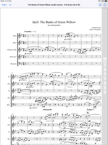 Banks of Green Willow 1st page