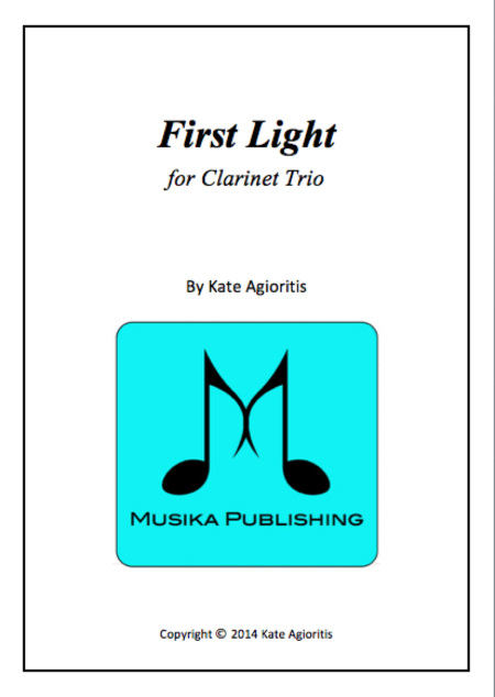First light clarinet trio