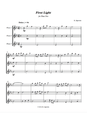 First Light – Flute Trio