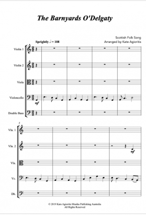 The Barnyards of Delgaty – String Orchestra