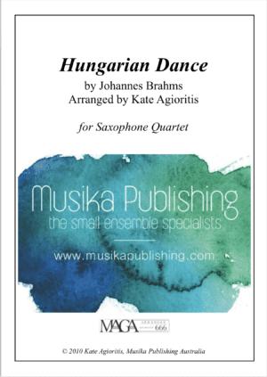 Hungarian Dance (Jazz Arrangement) – for Saxophone Quartet