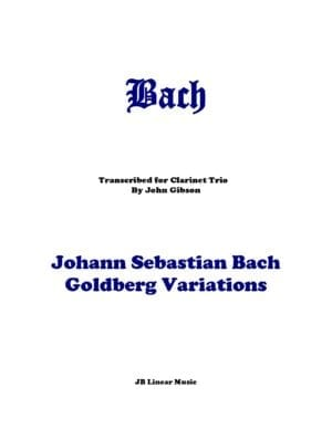 Bach Goldberg Variations set for 3 clarinets