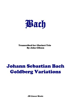 Bach Goldberg Variations set for 3 clarinets