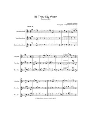 BE THOU MY VISION – Saxophone Trio