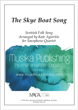 The Skye Boat Song – for Saxophone Quartet