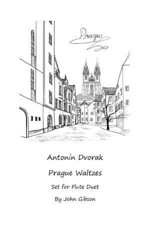 Antonin Dvorak Prague Waltzes set for Flute Duet