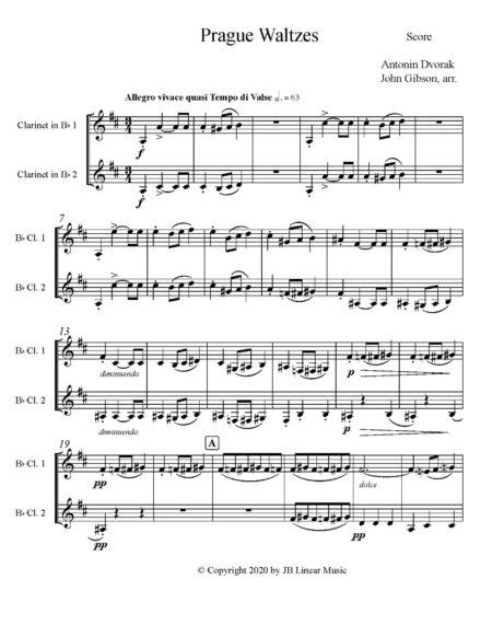 Dvorak Prague Waltzes cl duet
