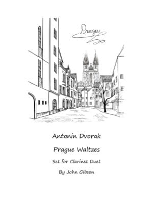Antonin Dvorak Prague Waltzes set for Clarinet Duet
