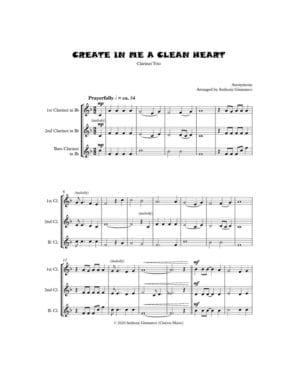 CREATE IN ME A CLEAN HEART (clarinet trio)