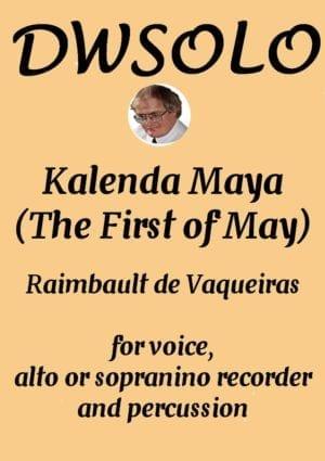 Kalenda Maya for alto voice, alto or sopranino recorder and percussion