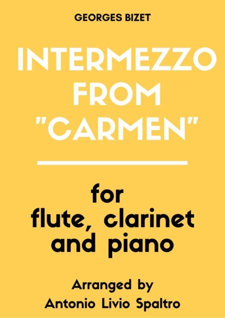 cover page carmen intermezzo flute clarinet and piano antonio livio spaltro