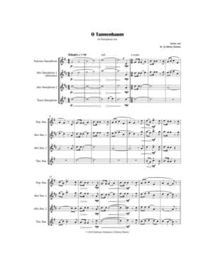 O Tannenbaum – Saxophone Trio (SAT or AAT)