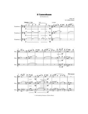O Tannenbaum – Trombone Trio