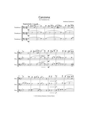 Canzona – Trombone Trio
