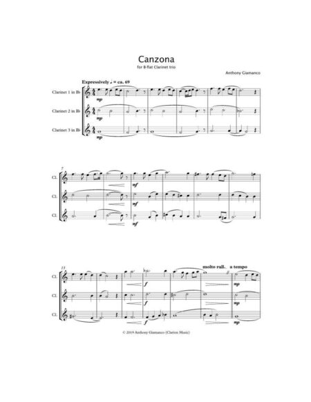 Canzona clarinet trio 1