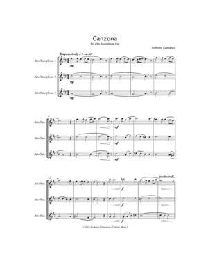 Canzona – Saxophone Trio