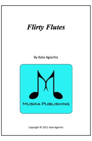 Flirty Flutes – for Flute Trio or Flute Quartet