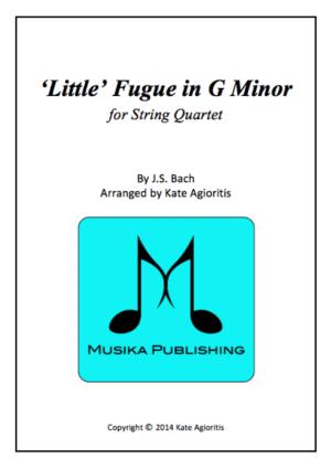 Little' Fugue in G Minor – String Quartet