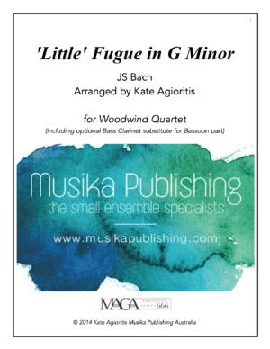 Little Fugue in G Minor – Woodwind Quartet