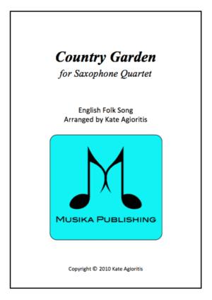 Country Garden – Jazz Arrangement for Saxophone Quartet