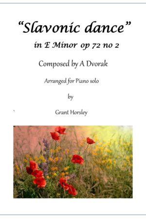 Slavonic dance in E minor op 72 no 2- Dvorak- Piano solo- Intermediate