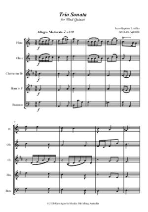 Trio Sonata – Wind Quintet