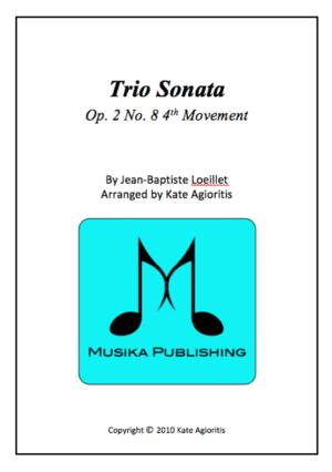 Trio Sonata – Clarinet Choir