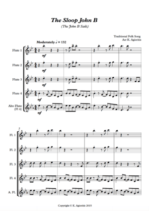 The Sloop John B – Flute Quartet