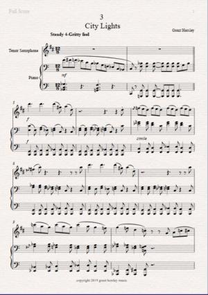 City Lights – Tenor Saxophone and Piano