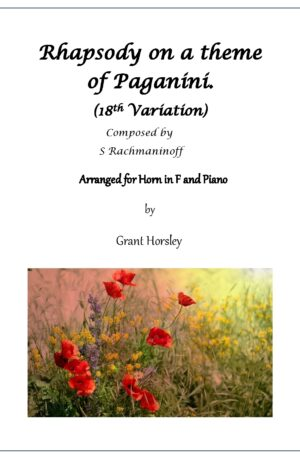 Rhapsody on Paganini Rachmaninoff (18th variation)- Horn and Piano