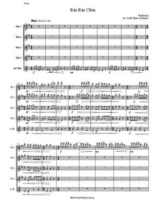 Riu Riu Chiu (4 flutes, 1 alto flute)