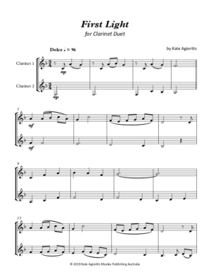 First Light – Clarinet Duet