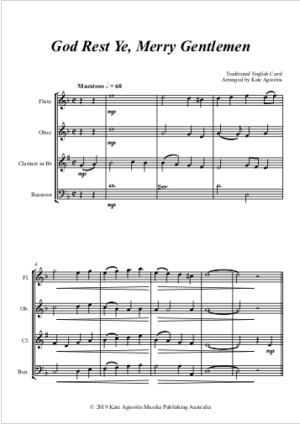 God Rest Ye Merry Gentlemen – Woodwind Quartet