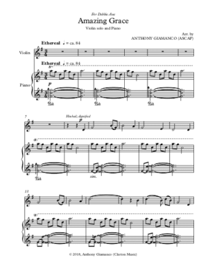 Amazing Grace – Violin and Piano