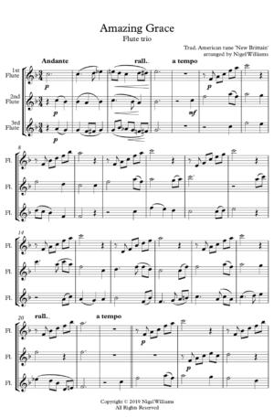 Amazing Grace – Flute Trio