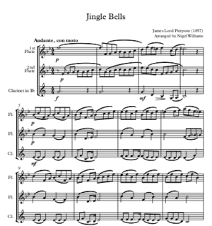 Jingle Bells – Woodwind Trio